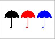 開いた傘のフリー素材・画像テンプレート
