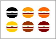 ハンバーガーのフリー素材・画像テンプレート