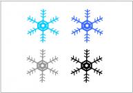 雪の結晶のフリー素材・画像・イラスト・テンプレート