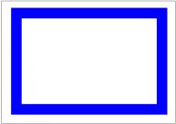 飾り枠・青い太線のフリー素材・画像テンプレート