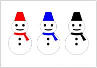 雪だるまのフリー素材・画像・イラスト・テンプレート