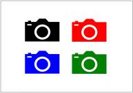 カメラのフリー素材・画像テンプレート