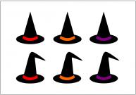 魔女の帽子のフリー素材・画像テンプレート