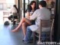 足癖の悪い彼女~オープンカフェで股間に足を~