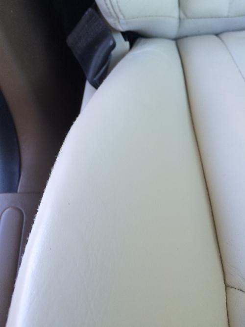 レザーシート ひび割れ補修 ジャガーXタイプ