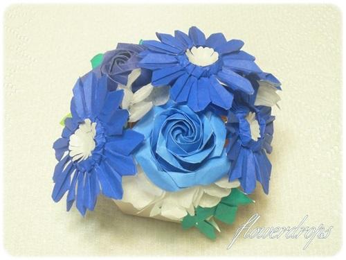 ハート 折り紙:折り紙 ガーベラ 折り方-flowerdrops087.blog.fc2.com