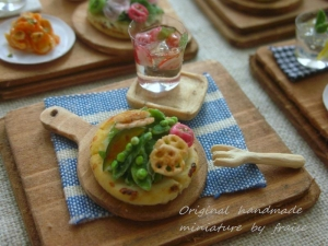 サラダピザプレート2