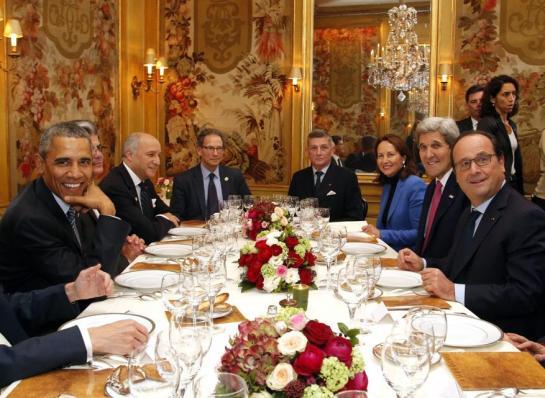 オバマ&オランド大統領の夕食