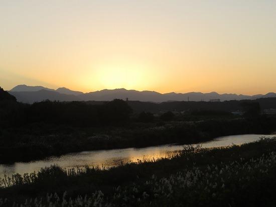 大分河畔の夕暮