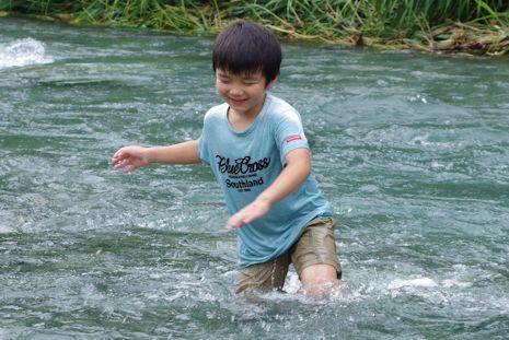 川遊び寄沢2