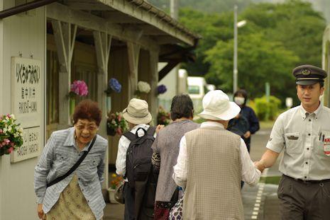 陸中川井駅にて