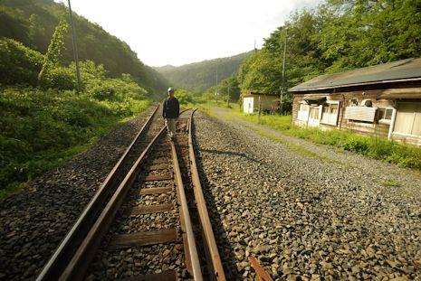 大志田駅にて