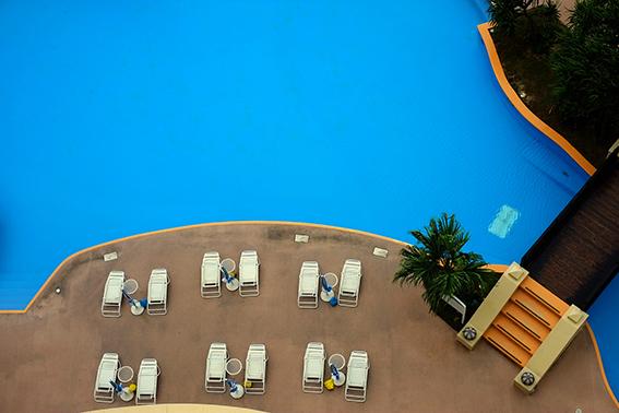 ホテルのブルー