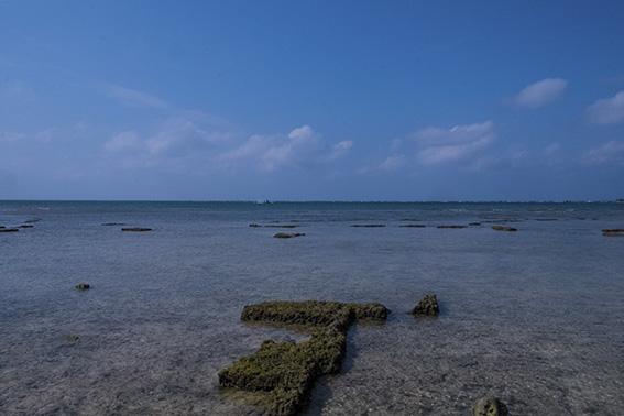 残波岬の海