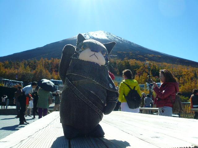エリア 富士山でポーズ