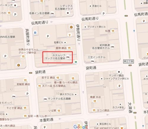 名古屋錦地図