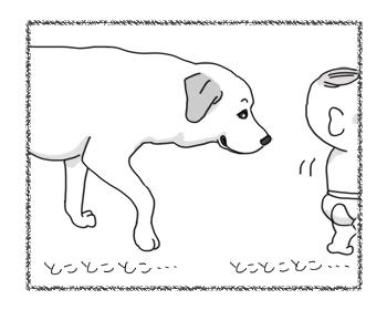 羊の国のラブラドール絵日記シニア!!「ベビーシッターな俺様」2