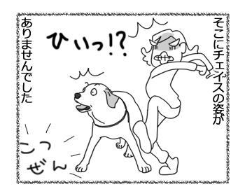 羊の国のラブラドール絵日記シニア!!「強風め!」2