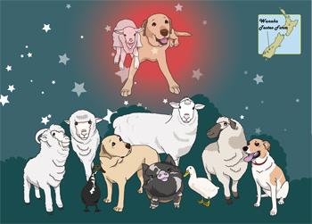 羊の国のラブラドール絵日記シニア!!「2016年度版カレンダー」1