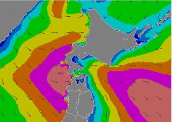 沿岸波浪モデル予想(気象庁発表)