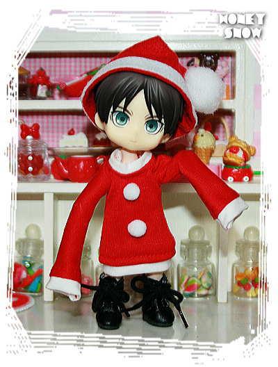 1/12DOLL 【クリスマス★ワンピ】 サンタ服 オビツ11、オビツろいど