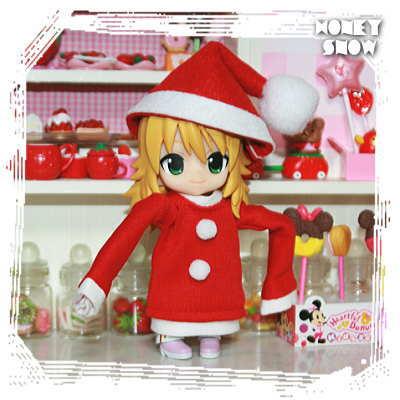 1/12DOLL 【クリスマス★ワンピ】 サンタ服 オビツ11、オビツろいど、キューポッシュ
