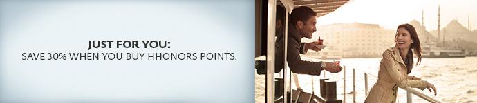 ヒルトンHオナーズ購入ポイントで割引 ターゲットによって30OFF~50OFF