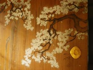 桜のふすま