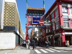 関帝廟へ通じる「関帝廟通り」