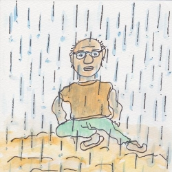 いもあられ@雨の中のちぃ~ちぃ~