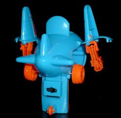 ベル 変身!ジェットロボ プルバックカー ブルー ロボットモード