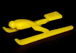 コリス フエラムネのおまけ 跳ぶスキージャンパー(黄)