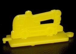コリス フエラムネのおまけ クレーン車スタンプ(黄)