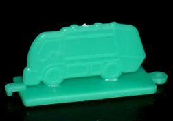 コリス フエラムネのおまけ ゴミ収集車スタンプ(緑)