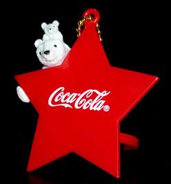 コカ・コーラ ボトルキャップオーナメント ポーラーベアファミリー