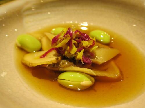 松茸の菊花浸し