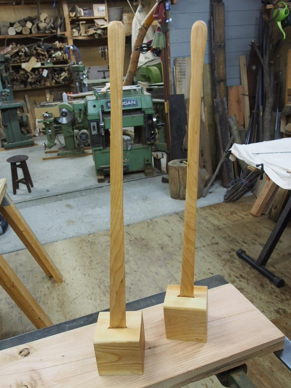 那須高原 じざい工房 小林康文の素材を活かす家具づくり 靴べらセット