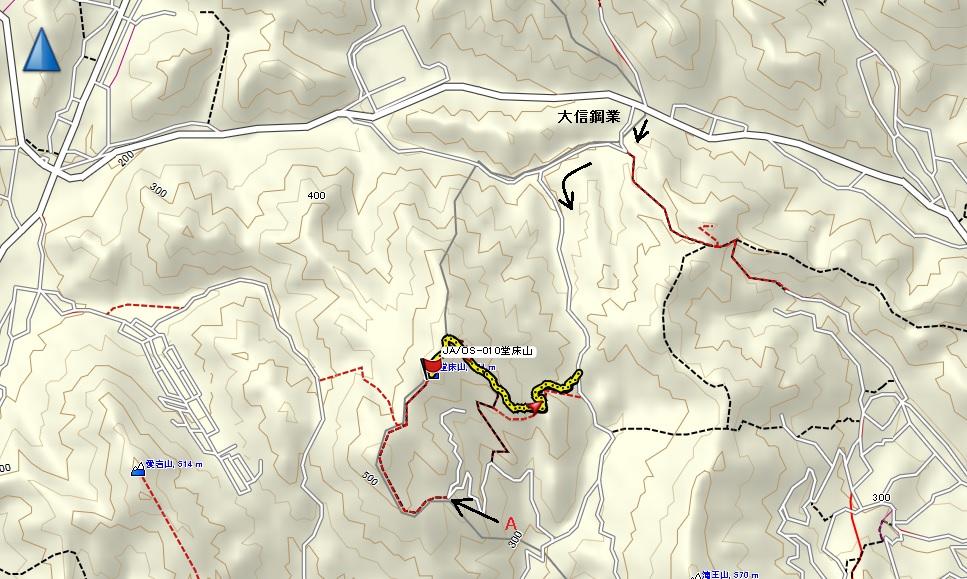 堂床山/地図