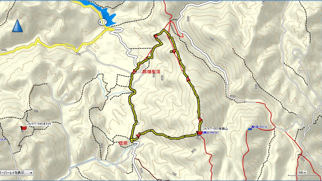 地蔵山/地図