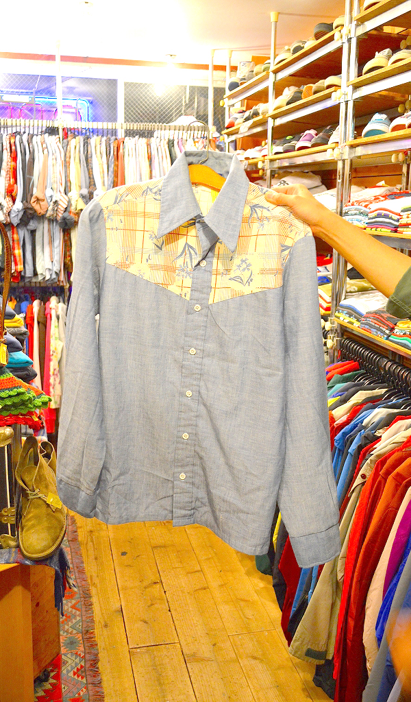 USED長袖柄物シャツ画像@古着屋カチカチ01