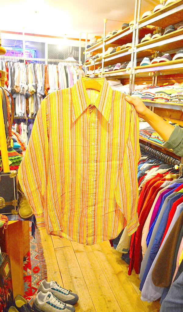 USED長袖柄物シャツ画像@古着屋カチカチ02