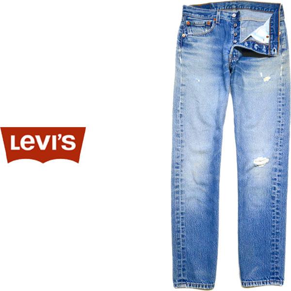 USEDリーバイス501ストレートジーンズ画像@古着屋カチカチ01