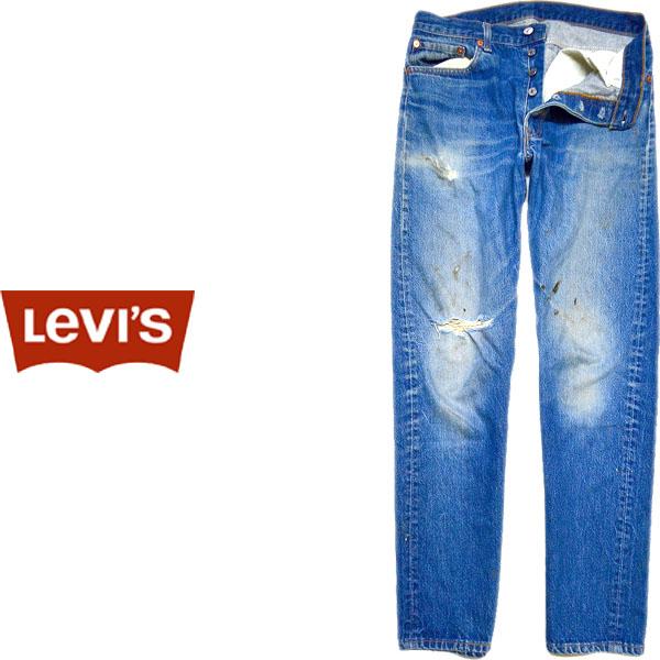 USEDリーバイス501ストレートジーンズ画像@古着屋カチカチ02
