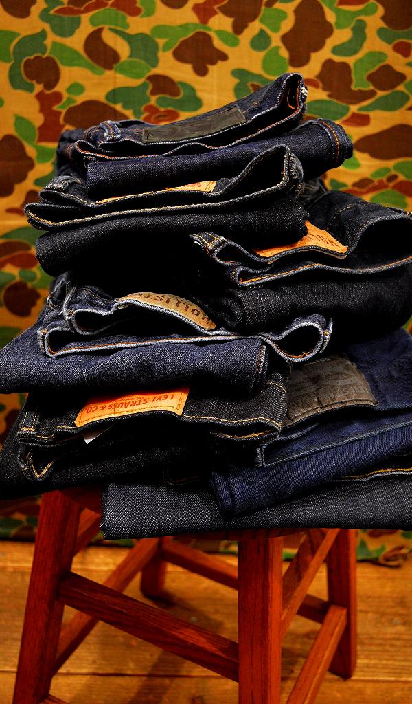 USED濃紺デニムパンツ画像ジーンズ@古着屋カチカチ
