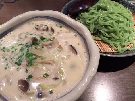 ポルチーニ茸のクリームつけ麺