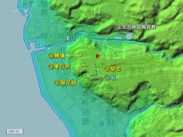佐渡奉行所地形図