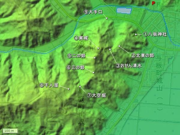 与板城地形図