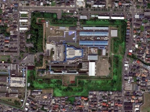 若林城航空写真
