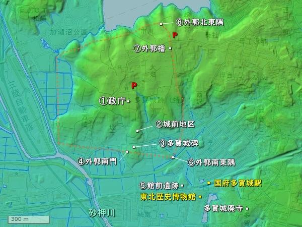 多賀城地形図