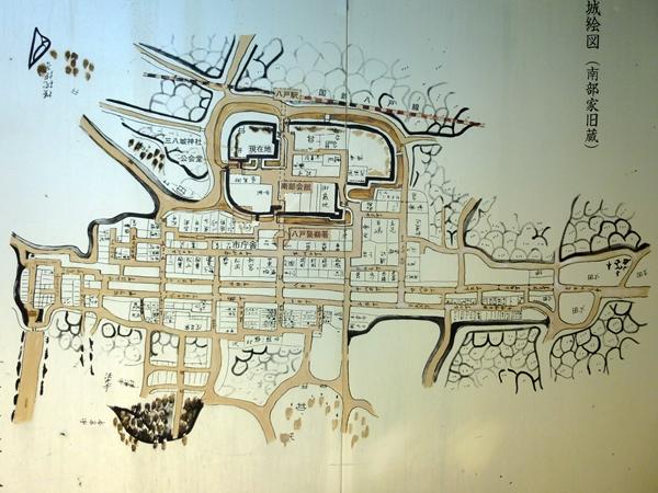 八戸城古図